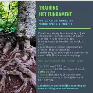 Training het fundament
